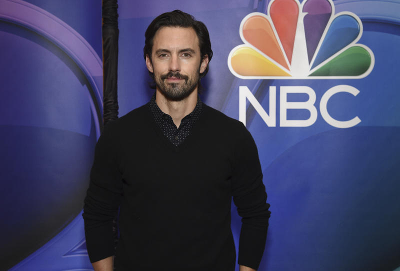 "Milo Ventimiglia, from the cast of ""This Is Us,"" attends the NBC 2019/2020 Upfront at The Four Seasons New York on Monday, May 13, 2019. (Photo by Evan Agostini/Invision/AP)"