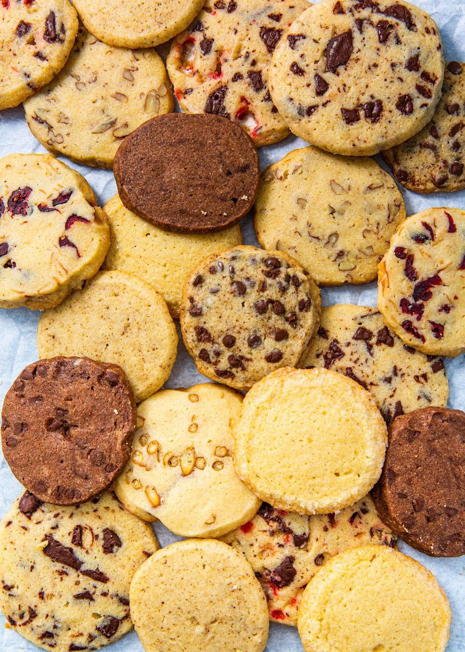 """<p>This way, you'll always have cookie dough on hand.</p><p>Get the recipe from <a href=""""https://www.delish.com/holiday-recipes/christmas/a30210300/easy-icebox-cookies-recipe/"""" rel=""""nofollow noopener"""" target=""""_blank"""" data-ylk=""""slk:Delish"""" class=""""link rapid-noclick-resp"""">Delish</a>.</p>"""