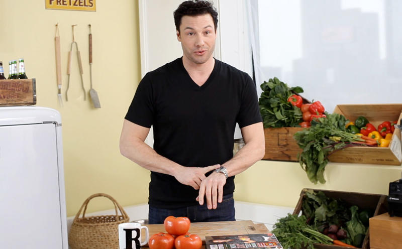 "This undated image from video released by Conde Nast shows celebrity chef Rocco Dispirito in ""The Ten,"" in which celebrities share the 10 items they can't live without. Conde Nast is launching a slate of original Web series, continuing the publisher's push to expand its stable of magazines into multimedia programming. Conde Nast will debut on Tuesday, March 12, 2013 online channels on YouTube and other video destinations for Glamour and GQ. (AP Photo/Conde Nast)"