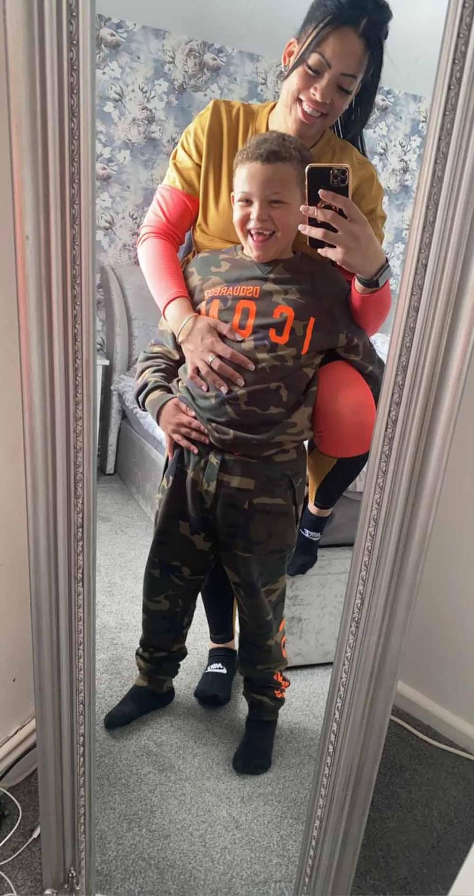 Kylie and her son Marcell. PA REAL LIFE COLLECT