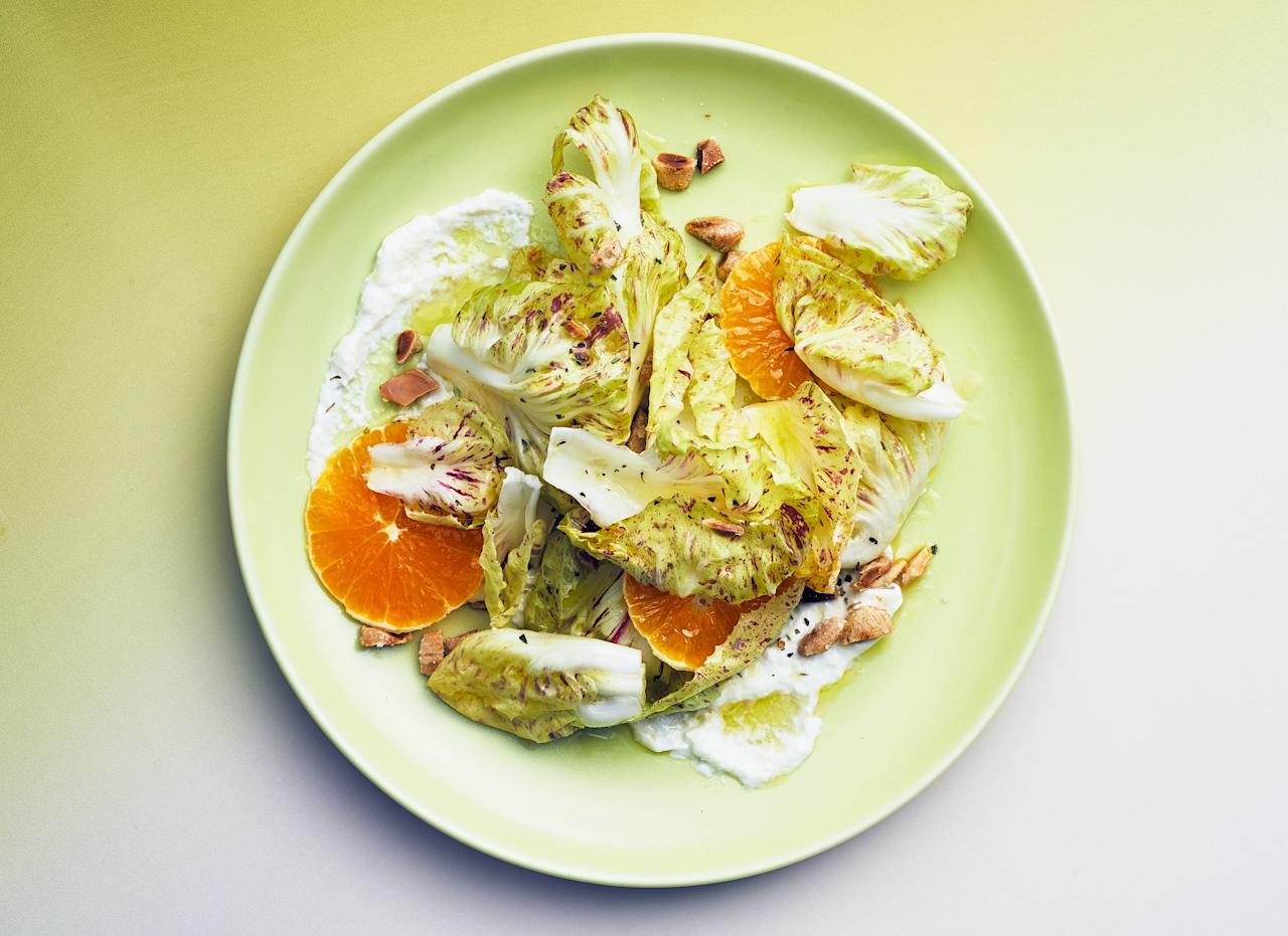 "Crunchy, fatty Marcona almonds bring balance this bright, bitter, cheese-heavy salad. <a href=""https://www.epicurious.com/recipes/food/views/radicchio-and-citrus-salad-with-burrata?mbid=synd_yahoo_rss"">See recipe.</a>"