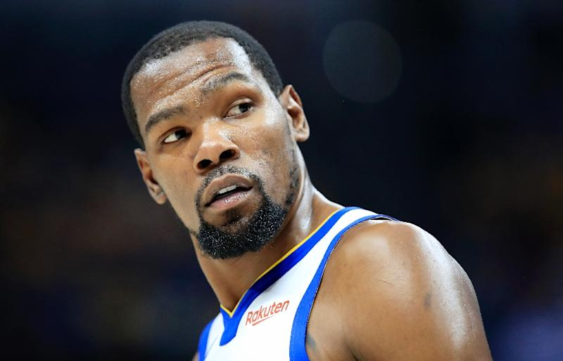 297249cbf Golden State Warriors star Kevin Durant was chosen by LeBron James with the  first overall pick