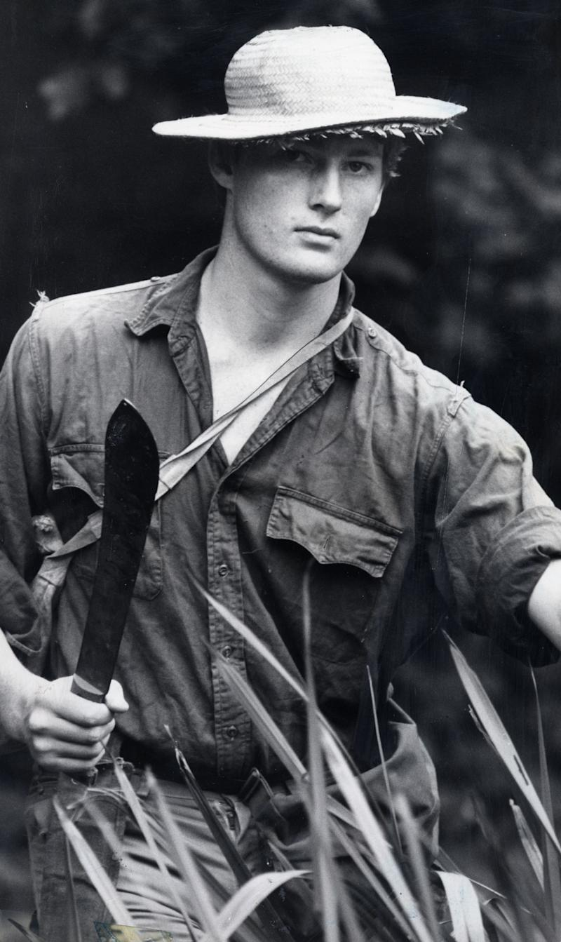 <strong>Allen pictured exploring in the south American rainforests in 1983</strong> (Rex Features)