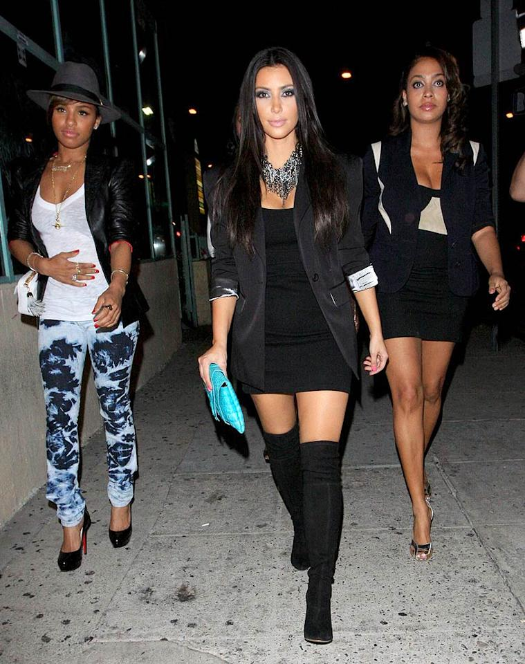 "Meanwhile, Kim, Melody, and former MTV VJ LaLa Vasquez hit West Hollywood hot spot Madame Royale. Hellmuth Dominguez/<a href=""http://www.pacificcoastnews.com/"" target=""new"">PacificCoastNews.com</a> - August 3, 2009"