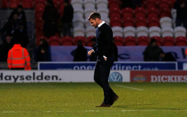Soccer Football - FA Cup Second Round - Doncaster Rovers vs Scunthorpe United - Keepmoat Stadium, Doncaster, Britain - December 3, 2017 Scunthorpe United Manager Graham Alexander after the match Action Images/Craig Brough