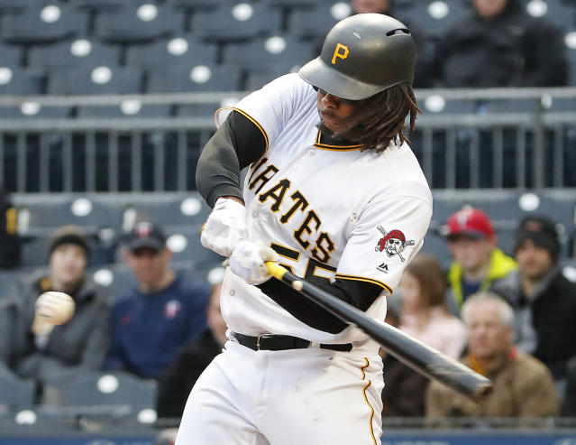 Josh Bell and the rest of the Pirates have made some strides hitting the ball in the air. (AP Photo/Gene J. Puskar)