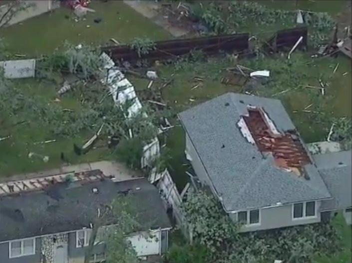 Video footage of the tornado aftermath  (Twitter/ABCNews/GingerZee)