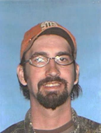 Joseph Jesse Aldridge, the suspect in a shooting spree that left seven people dead in a south-central Missouri town, is shown in this Texas County, Missouri Sheriff's Department photo released on February 27, 2015. REUTERS/Texas County Sheriff's Department/Handout