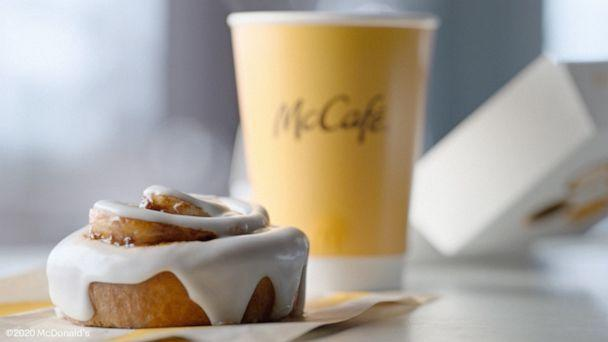 PHOTO: A cinnamon roll and coffee from McDonald's new McCafe menu. (McDonald's )
