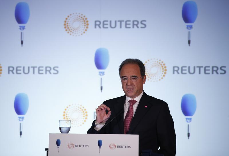 Millennium BCP bank CEO Amado speaks during a conference organised by Reuters and TSF radio in Lisbon