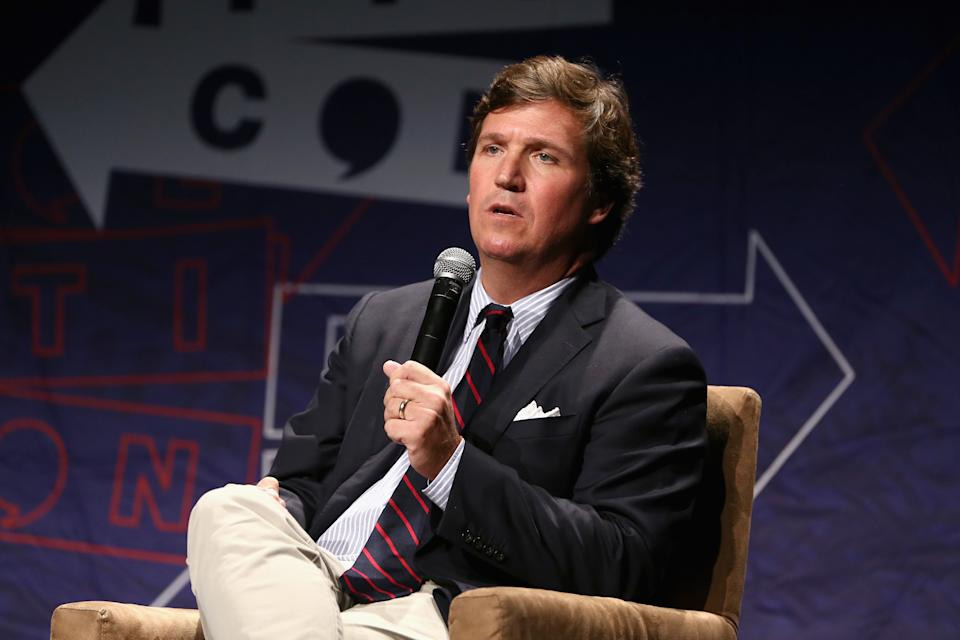 Fox News host Tucker Carlson apologized to viewers after falsely reporting on voter fraud in Georgia. (Photo: Rich Polk/Getty Images for Politicon )