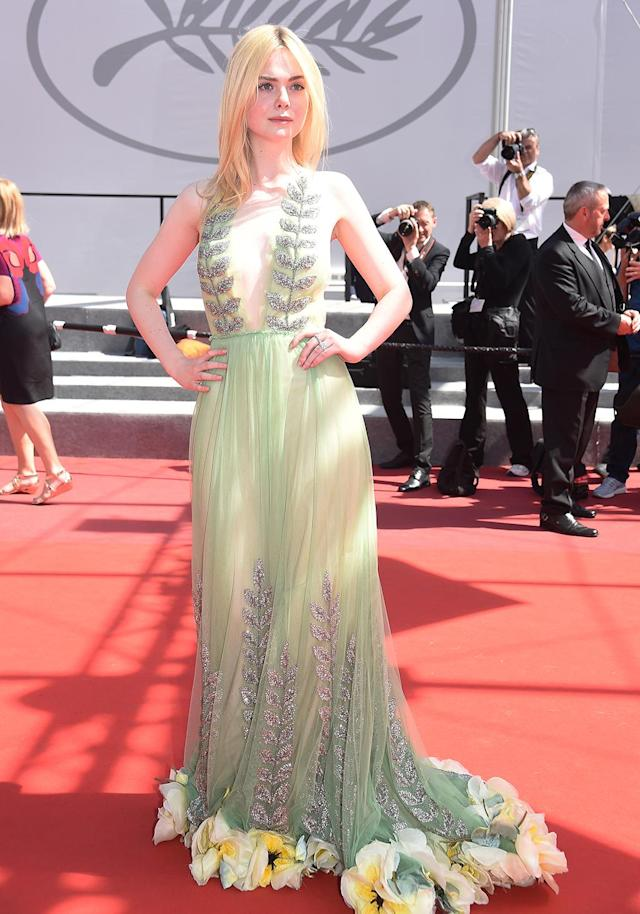 <p>Elle Fanning attends the<em> How To Talk To Girls At Parties</em> screening during the 70th annual Cannes Film Festival on May 21, 2017 in Cannes, France. (Photo: Stephane Cardinale/Getty Images) </p>