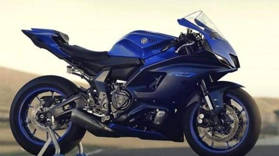 Prior to debut, Yamaha YZF-R7 motorcycle previewed in leaked images