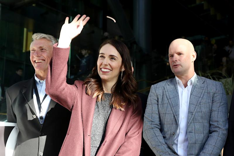 Prime Minister Jacinda Ardern and Precinct Properties Chief Executive, Scott Pritchard: Getty Images