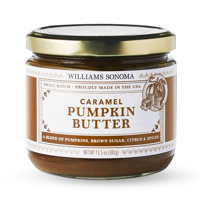 "<p>williams-sonoma.com</p><p><strong>$19.16</strong></p><p><a href=""https://go.redirectingat.com?id=74968X1596630&url=https%3A%2F%2Fwww.williams-sonoma.com%2Fproducts%2Fwilliams-sonoma-caramel-pumpkin-butter&sref=https%3A%2F%2Fwww.delish.com%2Ffood-news%2Fg22727687%2Ffall-foods-drinks-flavors%2F"" rel=""nofollow noopener"" target=""_blank"" data-ylk=""slk:BUY NOW"" class=""link rapid-noclick-resp"">BUY NOW</a></p><p>Exclusive to Williams Sonoma and delicious on just about everything.</p>"