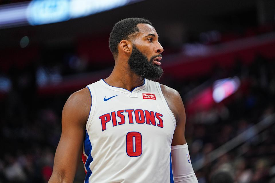 All-Star center Andre Drummond is among the names linked to the Knicks entering the trade deadline. (Getty Images)