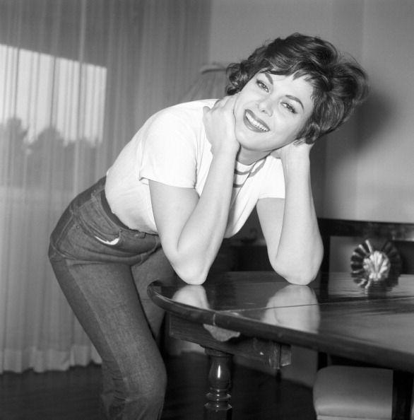<p>Italian actress Sandra Milo cements it: the jeans & white T-shirt look was A Thing.</p>