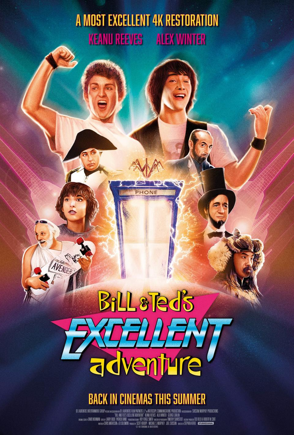A poster for the 4K re-release of 1989's Bill & Ted's Excellent Adventure. (Studiocanal)