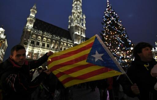 <p>Catalans march in Brussels to 'wake up Europe'</p>