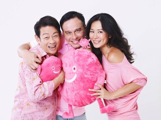 From left: Ivan Heng, Mark Richmond and Michelle Chia are the 2013 ambassadors of LGBT rally Pink Dot (Photo courtesy of Milk Photographie)