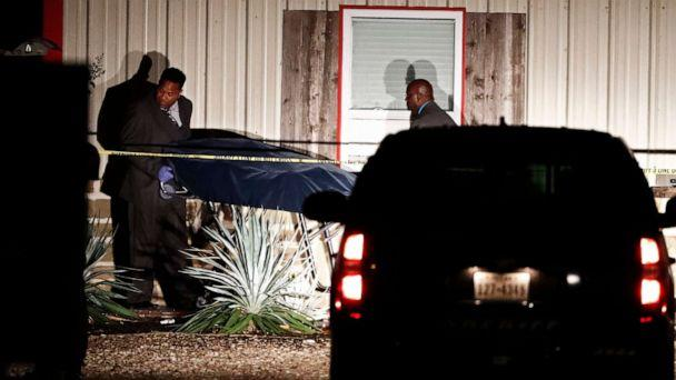 PHOTO: Bodies are removed from the Party Venue after a shooting in Greenville, Texas, Oct. 27, 2019. (Larry W Smith/EPA via Shutterstock)