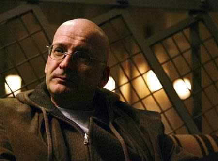 File photo of Irish author Roddy Doyle posing at the Soho Grand Hotel in Manhattan