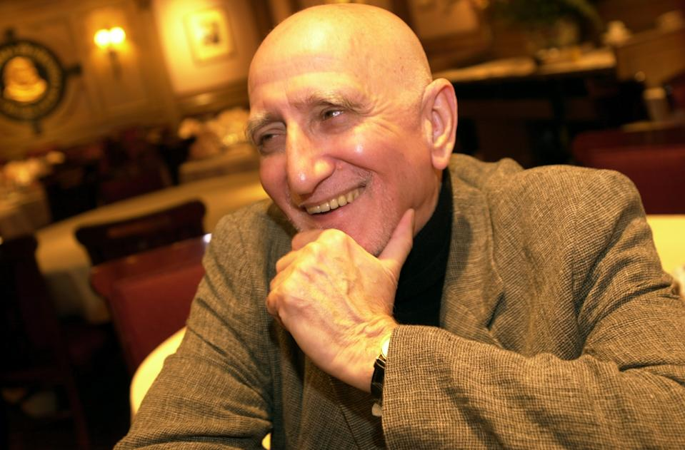 "UNITED STATES - CIRCA 2000:  Dominic Chianese, who plays Uncle Junior Soprano in the TV series ""The Sopranos,"" relaxes at the Friars Club.  (Photo by David Handschuh/NY Daily News Archive via Getty Images)"