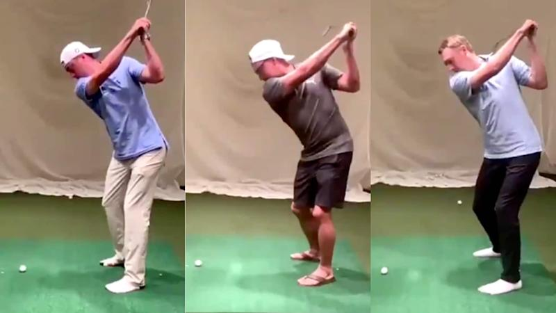 JT, Rickie, Spieth show off left-handed swings in slow motion