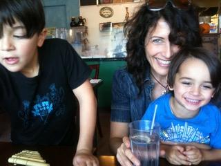 Edelstein on the day she met the boys who would become her stepsons. (Photo: Courtesy of Lisa Edelstein)