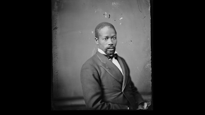 Jeremiah Haralson in a photo likely taken during his single term representing southwestern Alabama in the U.S. Congress. Haralson was the last African American elected to Congress from Alabama during Reconstruction. Alabama did not elect another African American to Congress until 1992.