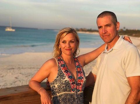"""<p>In an interview with <a href=""""https://people.com/style/reese-witherspoon-talks-aging-and-her-desert-island-must-haves-with-makeup-artist-molly-stern/"""" rel=""""nofollow noopener"""" target=""""_blank"""" data-ylk=""""slk:People"""" class=""""link rapid-noclick-resp"""">People</a>, Reese said that the beauty product she would have to have on a deserted island is <a href=""""https://www.womenshealthmag.com/uk/beauty/skin/a708488/best-once-a-day-sun-cream/"""" rel=""""nofollow noopener"""" target=""""_blank"""" data-ylk=""""slk:sunscreen"""" class=""""link rapid-noclick-resp"""">sunscreen</a>. Protecting your skin from damaging (and ageing) UV rays, SPF would be the thing in our back pocket, too. </p><p><a href=""""https://www.instagram.com/p/Blvn9I2HmEd/"""" rel=""""nofollow noopener"""" target=""""_blank"""" data-ylk=""""slk:See the original post on Instagram"""" class=""""link rapid-noclick-resp"""">See the original post on Instagram</a></p>"""