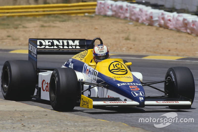 "Nigel Mansell - Williams FW10 Honda - GP de Sudáfrica 1985<span class=""copyright"">LAT Images</span>"