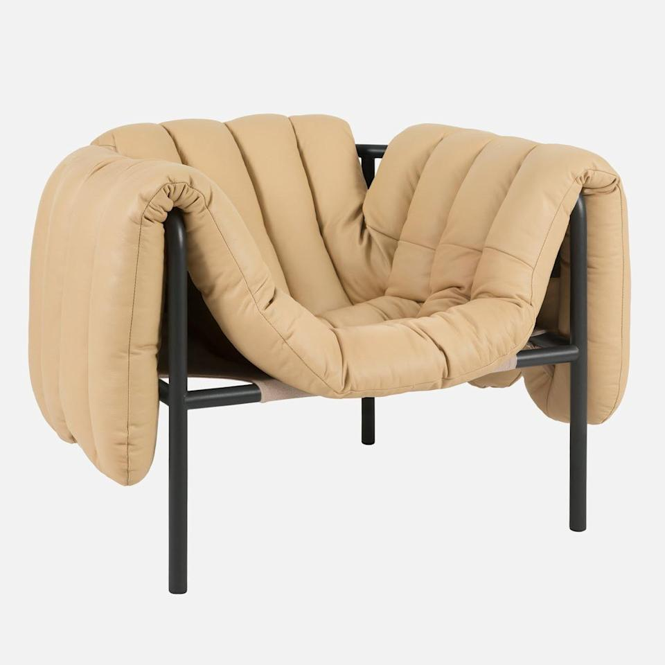 """<p><strong>HEM</strong></p><p>HEM</p><p><strong>$2599.00</strong></p><p><a href=""""https://us.hem.com/collections/seating/products/puffy-lounge-chair?variant=33039182528565"""" rel=""""nofollow noopener"""" target=""""_blank"""" data-ylk=""""slk:Shop Now"""" class=""""link rapid-noclick-resp"""">Shop Now</a></p><p>Pleasantly plump detachable upholstery envelops a streamlined tubular frame — and you.</p>"""