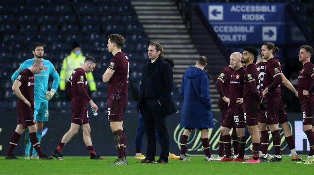 Hearts manager Robbie Neilson was proud of his team's efforts