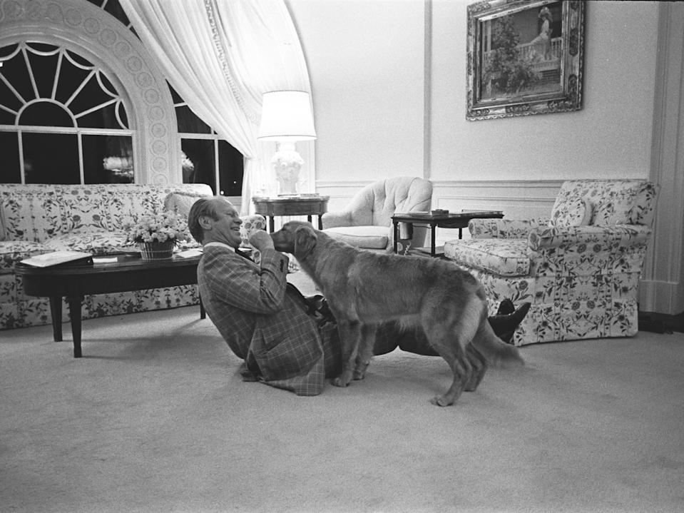 gerald ford with dog liberty