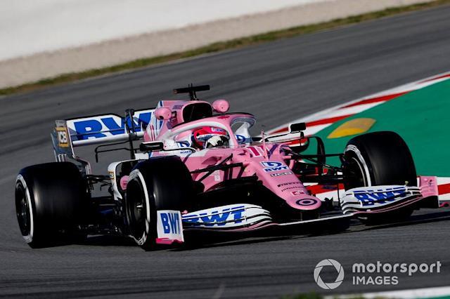 """Sergio Perez, Racing Point RP20: 441 (2053 km) <span class=""""copyright"""">Andy Hone / Motorsport Images</span>"""