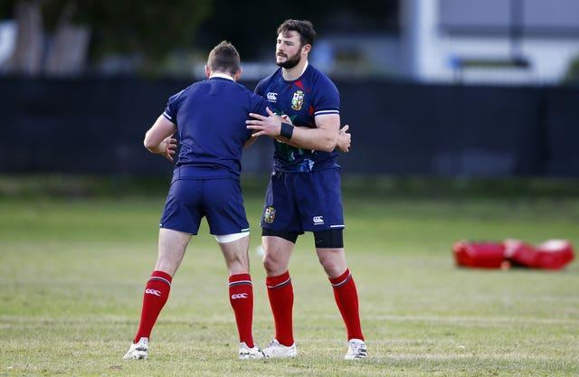 Robbie Henshaw (right) and Elliot Daly (left) are the Lions' centres against South Africa