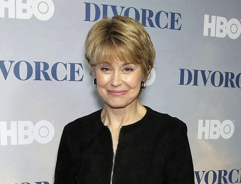 """FILE - This Tuesday, Oct. 4, 2016, file image released by Starpix shows Jane Pauley at the premiere of the HBO series """"Divorce,"""" at the SVA Theatre in New York.  Pauley will take over as host of """"CBS News Sunday Morning"""" this weekend. (Marion Curtis/StarPix via AP, File)"""