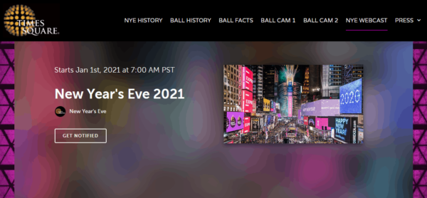 new year's eve countdown - nye nyc times square 2021