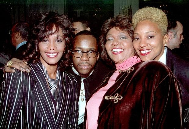 Whitney Houston Bobby Brown and Robyn Crawford in happier days in New York City RTNBaker / MediaPunch/IPX