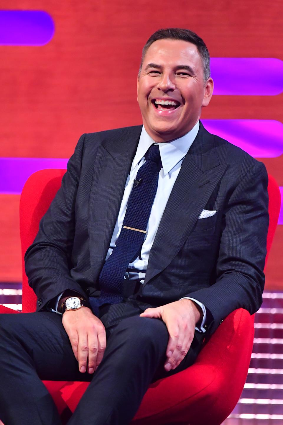 David Walliams during the filming for the Graham Norton Show at BBC Studioworks 6 Television Centre, Wood Lane, London, to be aired on BBC One on Friday evening.
