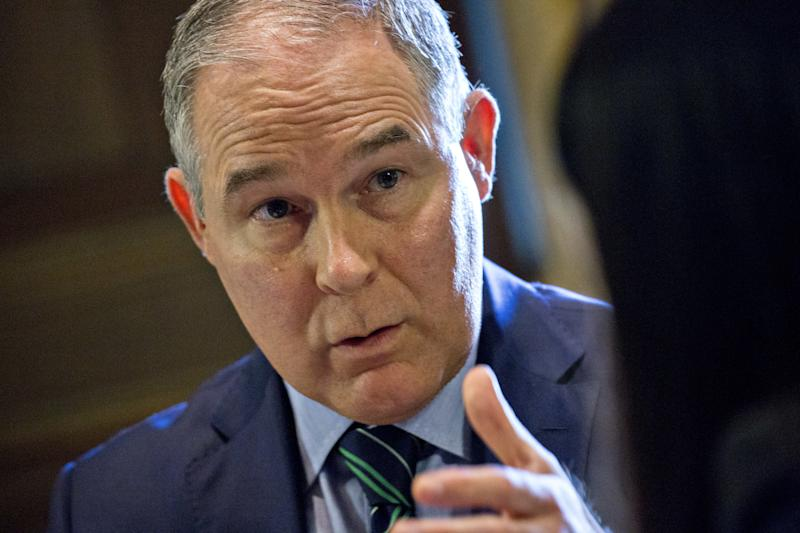 Scott Pruitt's actions since becoming head of the Environmental Protection Agency have chagrined one of his former law professors. (Bloomberg via Getty Images)