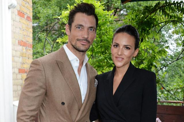 David Gandy and Stephanie Mendoros (Photo Dave Benett/Getty Images)