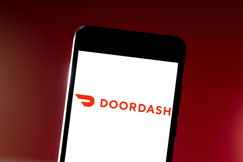 BRAZIL - 2019/07/01: In this photo illustration the DoorDash logo is seen displayed on a smartphone. (Photo Illustration by Rafael Henrique/SOPA Images/LightRocket via Getty Images)