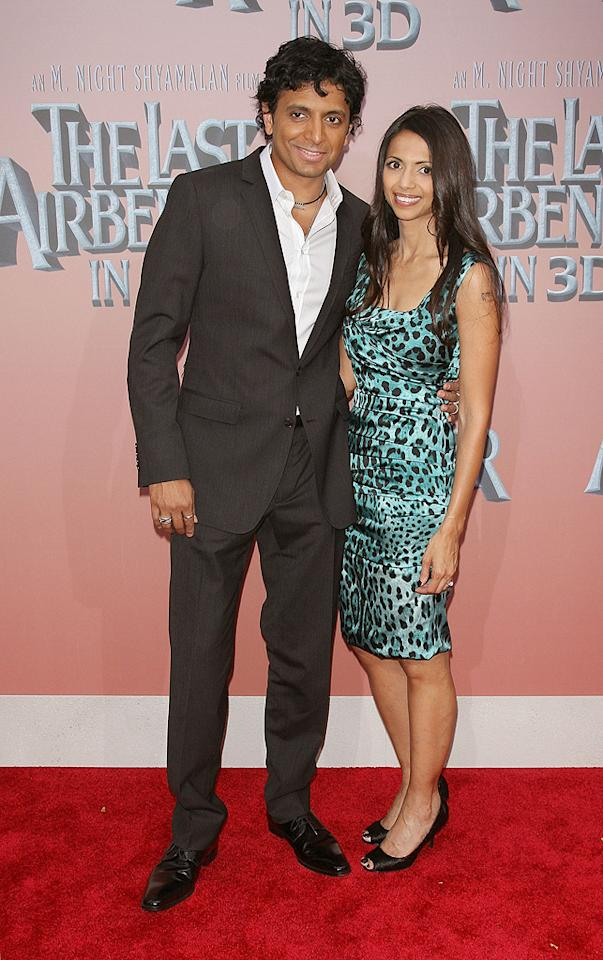 """<a href=""""http://movies.yahoo.com/movie/contributor/1800019667"""">M. Night Shyamalan</a> and wife at the New York City premiere of <a href=""""http://movies.yahoo.com/movie/1810071569/info"""">The Last Airbender</a> - 06/30/2010"""