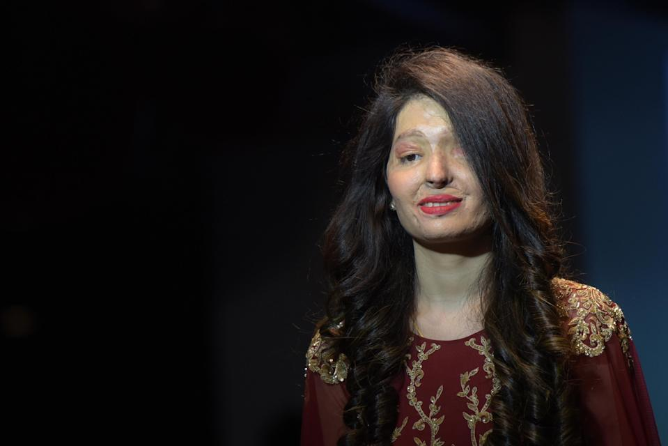 Indian acid attack victims took part in a fashion show dedicated to bravery and confidence [Photo: Getty]