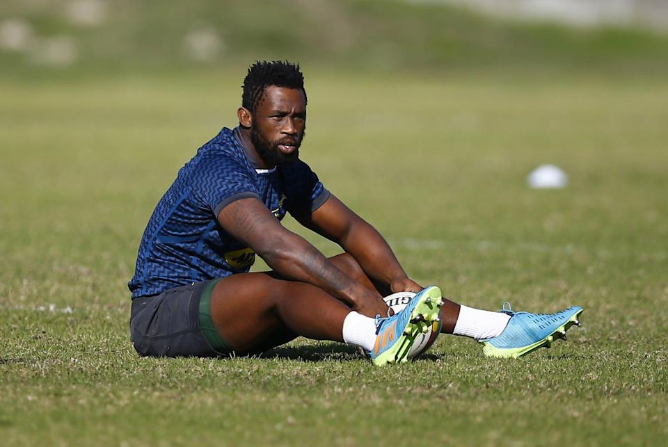 Rassie Erasmus has been unhappy with referee treatment of Siya Kolisi, pictured, in the British and Irish Lions series (Steve Haag) (PA Wire)