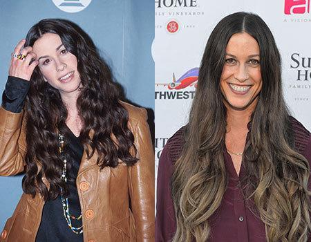 Alanis Morrisette began her music career in the early 90s and apart from her hair today, we can barely tell a difference. If she looks that good because of all the yoga she does, where do we sign up?