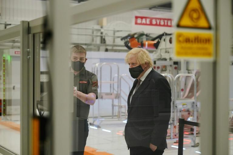 Prime Minister Boris Johnson visits BAE Systems at Warton Aerodrome in northwest England as Britain makes its biggest defence overhaul since World War II.
