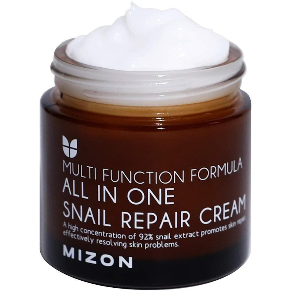 <p>The <span>Mizon Snail Repair Cream </span> ($17) is a nourishing moisturizer great for all skin types, even sensitive. It heals and soothes for glowing, plump skin.</p>